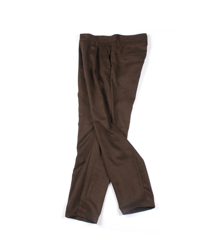 weyep 16 a/w fake suede tuck pants (brown)