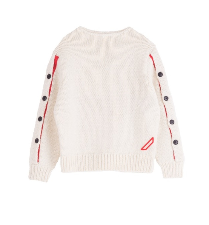 HAND Knitted Button jumper[white]