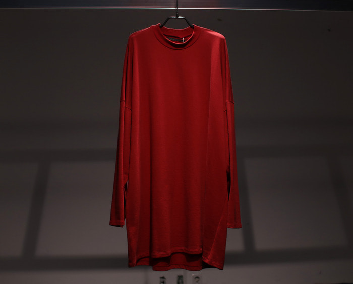 my beautiful landlet / LONG SWEAT T-SHIRT ( RED)