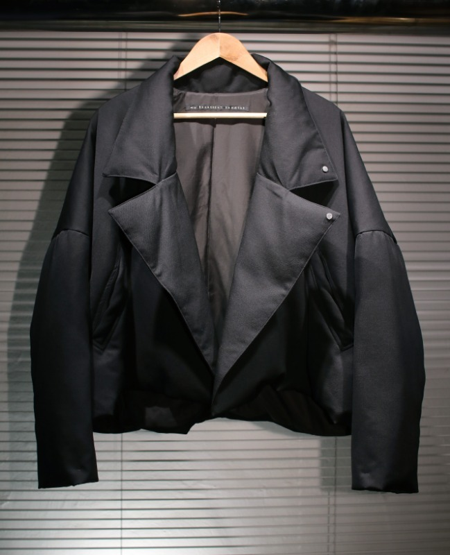 my beautiful landlet twill down short coat(BLACK)