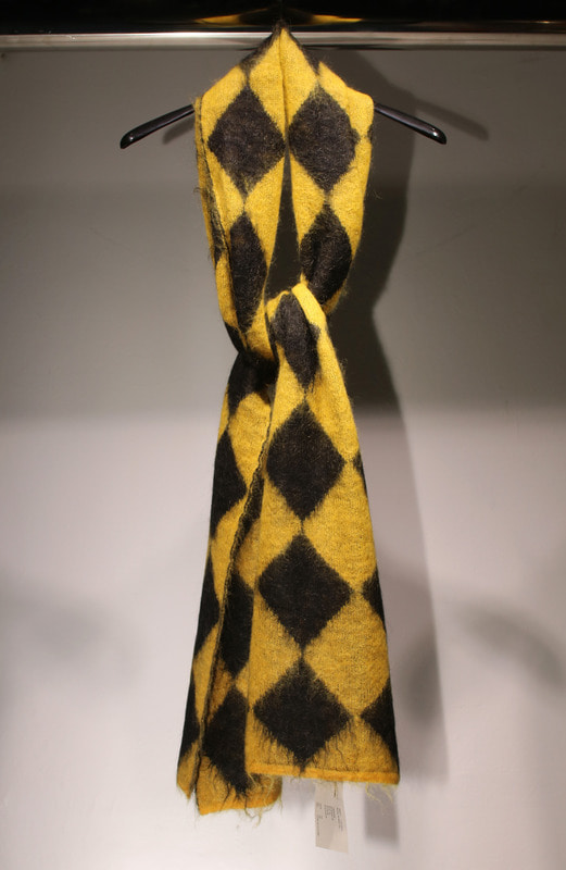 Rhythmatic DIA Mohair Scarf(YELLOW)