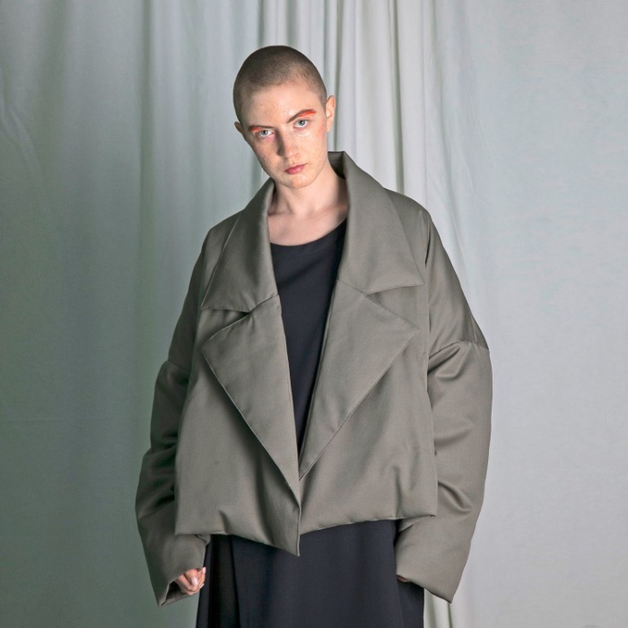 my beautiful landlet twill down short coat(GREY)